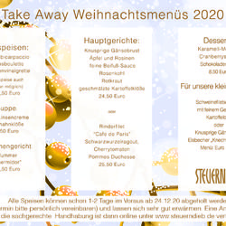 Weihnachten 2020 Take Away